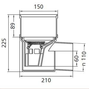 Kellerablauf 15x15cm